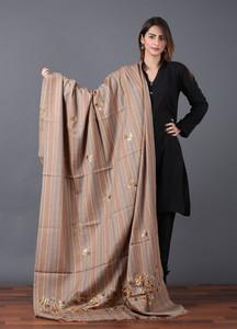Sanaulla Exclusive Range Pashmina Embroidered Shawl 620 - Kashmiri Shawls