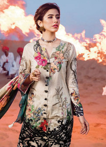 Cross Stitch Embroidered Lawn Unstitched 3 Piece Suit CS18L BOTANICAL GARDEN - Spring / Summer Collection