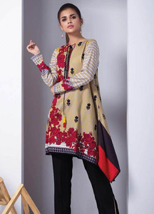 Orient Textile Embroidered Cotton Cotel Unstitched Kurties OT18W 217A Interlock - Winter Collection