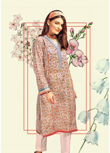 Gul Ahmed Printed Lawn Unstitched Kurties GAB19L SL-659 - Spring / Summer Collection