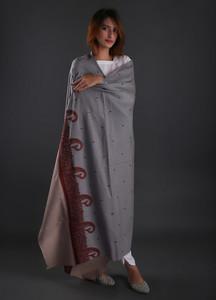 Sanaulla Exclusive Range Embroidered Pashmina Shawl 01 - Formal Collection