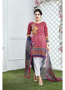 Gulaal Embroidered Lawn Unstitched 3 Piece Suit GL17M 03
