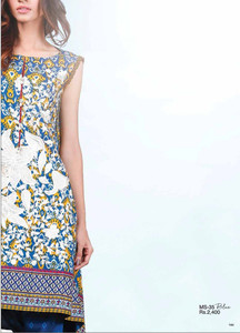 Al Karam Embroidered Cotton Unstitched 2 Piece Suit AK17E 35 Blue