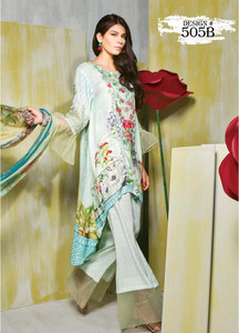 Rang Rasiya Embroidered Linen Unstitched 3 Piece Suit RGR17W 505B