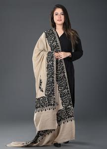 Sanaulla Exclusive Range Pashmina Embroidered Shawl 368 - Kashmiri Shawls