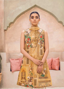 Cross Stitch Embroidered Lawn Unstitched Kurties CS18-L2 20 - Spring / Summer Collection