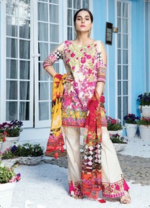 Gulaal Embroidered Lawn Unstitched 3 Piece Suit GL18L2 08 - Spring / Summer Collection
