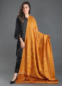 Sanaulla Exclusive Range Embroidered Pashmina Shawl 141 - Kashmiri Shawls