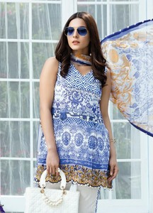 Gulaal Embroidered Lawn Unstitched 3 Piece Suit GL18L2 01 - Spring / Summer Collection