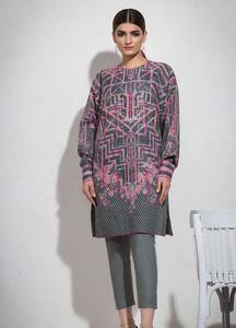 Al Karam Printed Lawn Unstitched 2 Piece Suit AK19L SS-55-19 Grey - Spring / Summer Collection