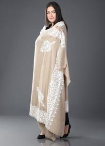 Sanaulla Exclusive Range Pashmina Embroidered Shawl 401 - Kashmiri Shawls