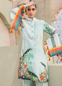 Cross Stitch Embroidered Lawn Unstitched 2 Piece Suit CS18-L2 14 - Spring / Summer Collection
