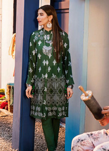 Cross Stitch Embroidered Lawn Unstitched 2 Piece Suit CS19L 12 Lush Meadow - Spring / Summer Collection