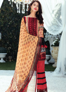 Gulaal Embroidered Lawn Unstitched 3 Piece Suit GL18L 12 - Spring / Summer Collection