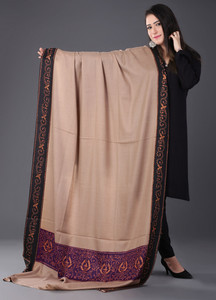 Sanaulla Exclusive Range Pashmina Embroidered Shawl 408 - Kashmiri Shawls