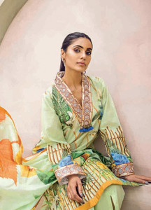 Cross Stitch Embroidered Lawn Unstitched 3 Piece Suit CS18-L2 12 - Spring / Summer Collection