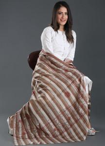 Sanaulla Exclusive Range Embroidered Pashmina Shawl 157 - Kashmiri Shawls