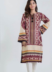 Bonanza Satrangi Printed Lawn Unstitched Kurties Delectable Artistry 14 - Spring / Summer Collection