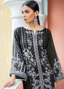 Gul Ahmed Printed Lawn Unstitched Kurties GA19BW SB-15 - Black & White Collection