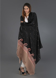 Sanaulla Exclusive Range Pashmina Embroidered Shawl 249 - Kashmiri Shawls