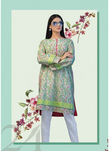 Gul Ahmed Printed Lawn Unstitched Kurties GAB19L SL-654 - Spring / Summer Collection