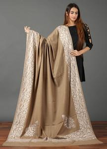 Sanaulla Exclusive Range Pashmina Embroidered Shawl 474 - Kashmiri Shawls
