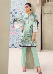 Cross Stitch Embroidered Lawn Unstitched 2 Piece Suit CS18-L2 17 - Spring / Summer Collection