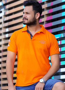 Red Tree Cotton Polo T-Shirts for Men - Orange RTM18PS 1534