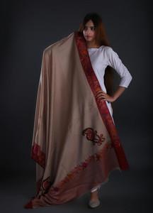 Sanaulla Exclusive Range Embroidered Pashmina Shawl 18 - Formal Collection