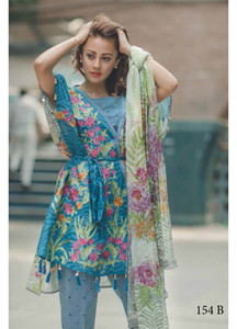 Rang Rasiya Embroidered Lawn Unstitched 3 Piece Suit RGR17C 154B