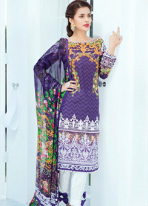 Gulaal Embroidered Lawn Unstitched 3 Piece Suit GL18L 06 - Spring / Summer Collection