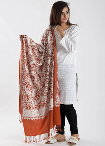 Sanaulla Exclusive Range Textured Pashmina Shawl 74 - Kashmiri Shawls