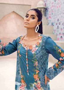 Cross Stitch Embroidered Lawn Unstitched Kurties CS18-L2 18 - Spring / Summer Collection