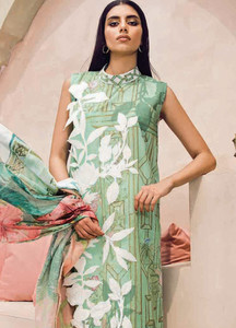 Cross Stitch Embroidered Lawn Unstitched 3 Piece Suit CS18-L2 11 - Spring / Summer Collection