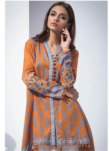 Orient Textile Embroidered Karandi Unstitched Kurties OT18W 235B Booti - Winter Collection