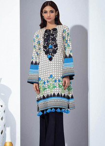 Orient Textile Embroidered karandi Unstitched Kurties OT18W 238A Haze - Winter Collection