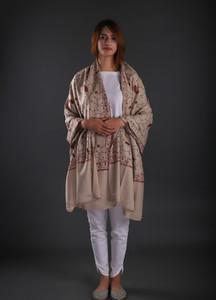 Sanaulla Exclusive Range Embroidered Pashmina Shawl 22 - Formal Collection