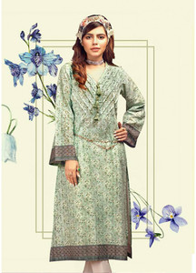 Gul Ahmed Printed Lawn Unstitched Kurties GAB19L SL-655 - Spring / Summer Collection
