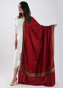 Sanaulla Exclusive Range Embroidered Pashmina Shawl 86 - Kashmiri Shawls