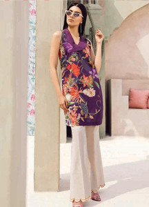 Cross Stitch Embroidered Lawn Unstitched 2 Piece Suit CS18-L2 15 - Spring / Summer Collection