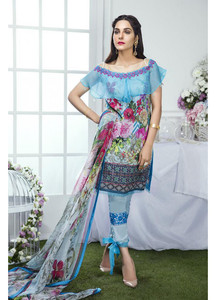 Gulaal Embroidered Lawn Unstitched 3 Piece Suit GL17M 08