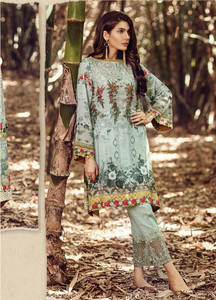 Baroque Embroidered Linen Unstitched 3 Piece Suit FU17W 06