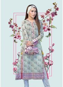 Gul Ahmed Printed Lawn Unstitched Kurties GAB19L SL-658 - Spring / Summer Collection