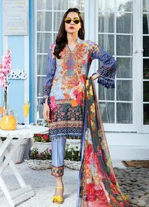 Gulaal Embroidered Lawn Unstitched 3 Piece Suit GL18L2 06 - Spring / Summer Collection