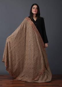 Sanaulla Exclusive Range Pashmina Embroidered Shawl 525 - Kashmiri Shawls