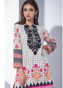 Orient Textile Embroidered karandi Unstitched Kurties OT18W 238B Haze - Winter Collection