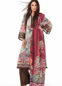 Al Karam Embroidered Linen Unstitched 2 Piece Suit AK17W 60 Multi