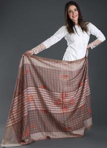 Sanaulla Exclusive Range Embroidered Pashmina Shawl 143 - Kashmiri Shawls
