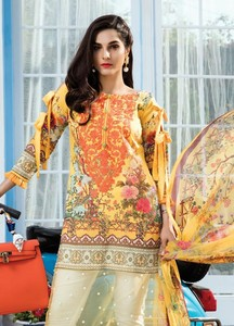 Gulaal Embroidered Lawn Unstitched 3 Piece Suit GL18L2 07 - Spring / Summer Collection