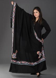 Sanaulla Exclusive Range Pashmina Embroidered Shawl 404 - Kashmiri Shawls